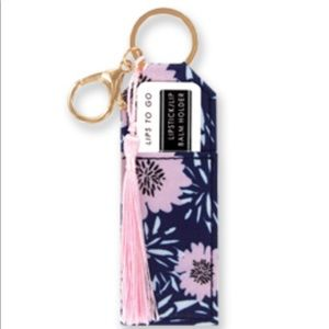 Olivia Moss lip balm holder key chain